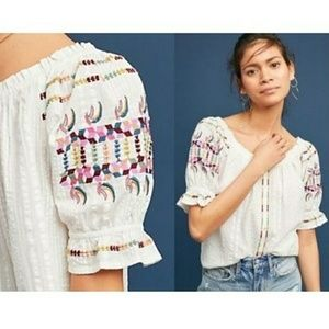 Anthropologie Akemi + Kin Embroidered Boho Top!